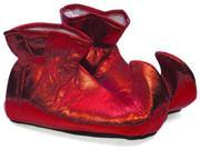 Christmas Elf Cloth Costume Shoes: Red One Size Fits Most
