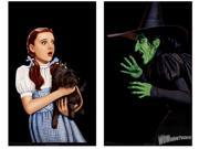 Wizard Of Oz Dorothy & Wicked Witch Double Window Halloween Sticker