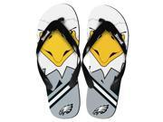 Philadelphia Eagles NFL 8-16 Youth Mascot Flip Flops Small (11-12)
