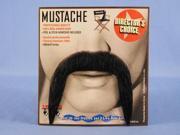 Spanish Amigo Black Real Human Hair Adult Costume Moustache
