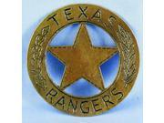 Texas Ranger Costume Pin Badge One Size