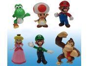 Super Mario Bros Mini Figures Wave 2 Set Of 6