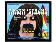 Rasta Stache Braided Beaded Costume Moustache One Size