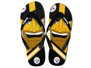 Pittsburgh Steelers NFL 8-16 Youth Mascot Flip Flops Small (11-12)