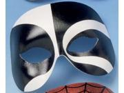 Voodoo Black & White Costume Eye Mask