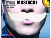 White Self-Adhesive Monopoly Costume Mustache