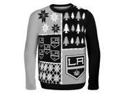 Los Angeles Kings NHL Busy Block Ugly Sweater Large
