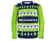 Seattle Seahawks Wordmark NFL Ugly Sweater XX-Large