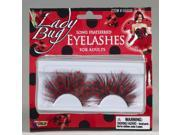 Long Feathered Lady Bug Lashes Costume Accessory