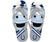 Indianapolis Colts NFL 8-16 Youth Mascot Flip Flops Medium (1-2)