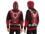 Marvel Deadpool Men's Full Zip Mask Hoodie X-Large