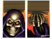 Grim Reaper Double Window Halloween Sticker