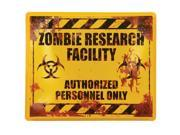Zombie Research Sign Halloween Party Decoration