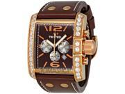 TW-Steel Goliath Brown Dial Chronograph Brown Leather Strap Mens Watch TW80