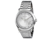Gucci G-Timeless Silver Dial Stainless Steel Automatic Mens Watch YA126417