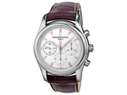 Frederique Constant Peking To Paris Chrono Brown Leather Strap Watch 396V6B6