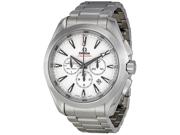 Omega Aqua Terra Silver Dial Chronograph Automatic Mens Watch 23110445004001