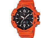 Casio Gravitymaster Black Dial Orange Band Mens Watch GWA1100R-4ACR