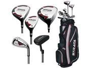 Callaway Strata Full Set 12-Piece RH 9 Clubs + 1 Stand Bag 406015612077 NEW