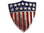 CleverSilver's 14K White Gold America Shield Of Honor Lapel Pin2. 5 0X1. 5 0 Mm