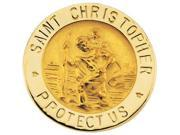 CleverSilver's 14K Yellow Gold St. Christopher Lapel Pin5. 0 0 Mm