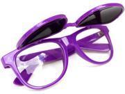 Classic Wayfarer Flip Sunglasses Glasses- Purple