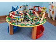 KidKraft City Explorer Wooden Train Set & Play Table