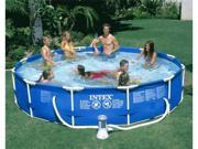 "Intex 12' x 30"" Metal Frame Swimming Pool Complete Set"