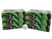 6 Dozen NEW Bridgestone e5 Distance and Control 72 Golf Balls - White