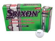 1 Dozen NEW Srixon Golf Soft Feel 12 Golf Balls - White 2 Piece Straight