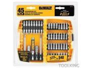 DW2166 45-Piece Screwdriving Bit Set with Tough Case