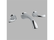 Delta  3592LF-WL Addison Chrome Two Handle Wall-Mount Lavatory Faucet