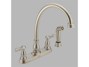 Delta 2457-SS Orleans Two Handle Kitchen Faucet with Spray, Stainless