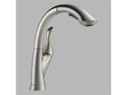 Delta 4153-SS-DST Linden Single Handle Pull-Out Kitchen Faucet, Stainless