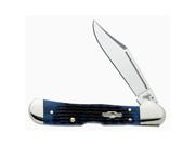 Case Cutlery Single Blade Mini Copperlock Blue Bone Pocket Knife