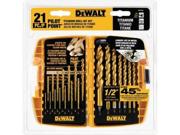 DeWalt DW1361 21-Piece Titanium Pilot Point Drill Bit Set