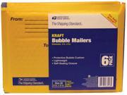 Lepages 83018 6-In. X 9-In. Manila Kraft USPS Bubble Mailers - 6-Pack