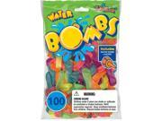 Pioneer National Latex 54864 Water Bombs Water Balloons Assorted Colors 100 Coun