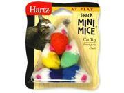Hartz 95986 5 Pack At Play  Mini Mice Cat Toy