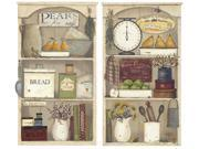 RoomMates RMK2149GM Country Kitchen Shelves Peel and Stick Giant Wall Decals