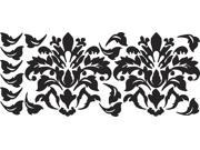 RoomMates RMK1171GM Damask Black Peel and Stick Wall Decals