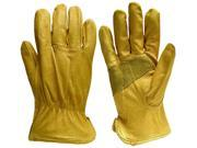 Big Time Products 9122-26 Medium True Grip Full Grain Leather Gloves