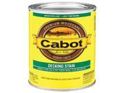 Cabot Stain 140-1406 QT Deck Stain, Neutral - 1 Quart