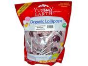 YummyEarth Organic Lollipops, Pomegranate Pucker, 50 + pops, 12.3-Ounce Bags. (Pack of 4)