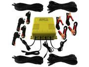 MotoBatt Four Bank Battery Charger and Maintainer 12v at 4A Per Bank Plus Four 25 Foot Extensions