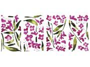Fuchsia Flower Arrangement Peel and Stick Wall Decals