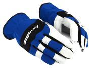 Forney 53079 Goatskin Leather Driver Premium Stretchable Mens Gloves Large