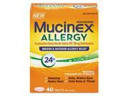 Mucinex 92640 Mucinex Allergy Relief Tablets, 180 mg, 40 Tablets/Box