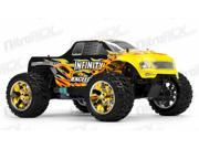1/10 2.4Ghz Exceed RC Infinitve Nitro Gas Powered RTR Off Road Monster 4WD Truck Fire Yellow