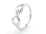 Sterling Silver Lite Infinity Love Ring